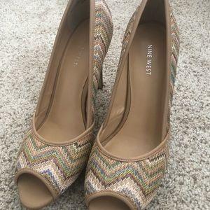 Nine West Peep Toe Heels